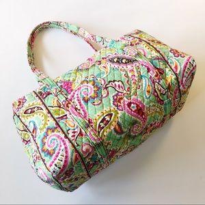 Vera Bradley Mint Green Paisley Print Travel Bag
